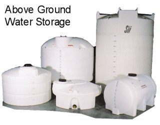 On site septic tank water storage tanks line